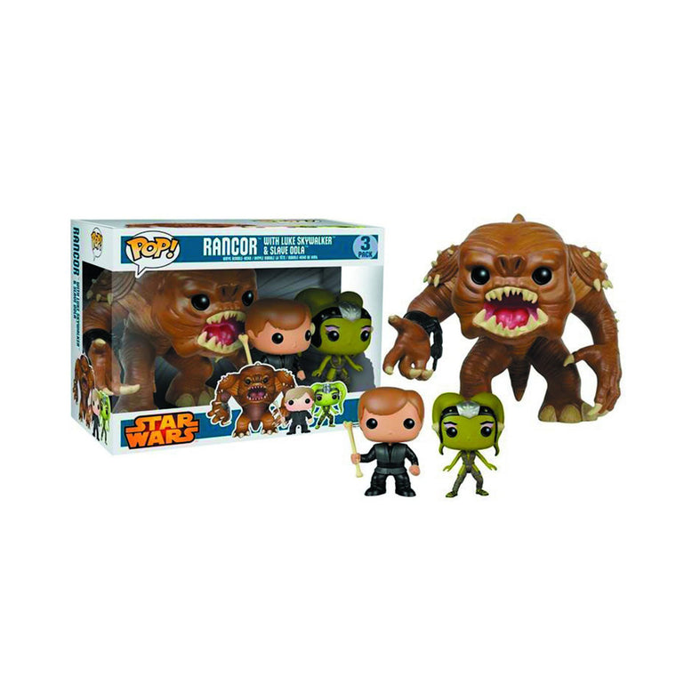 Funko Pop Star Wars - RANCOR with LUKE SKYWALKER & SLAVE OOLA  ** 3 Pack in UK**