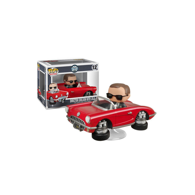 #12 Funko Pop Rides -DIRECTOR COULSON & LOLA 12cm ** Ultra Rare UK **