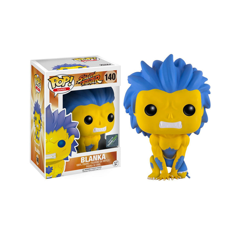 #140 Funko Pop Games BLANKA (YELLOW) Street Fighter Vinyl Figure Series 9cm/3.5