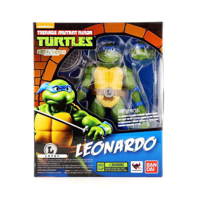 Teenage Mutant Ninja Turtles - LEONARDO Figure by SH Figurarts - TMNT ** Rare **