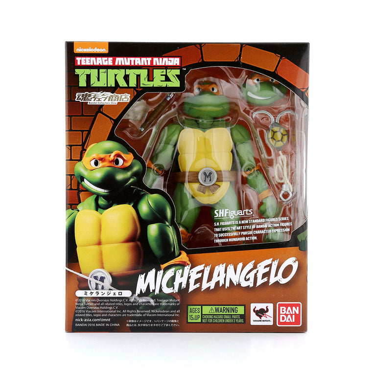 Teenage Mutant Ninja Turtles MICHELANGELO Figure by SH Figuarts TMNT ** Rare **