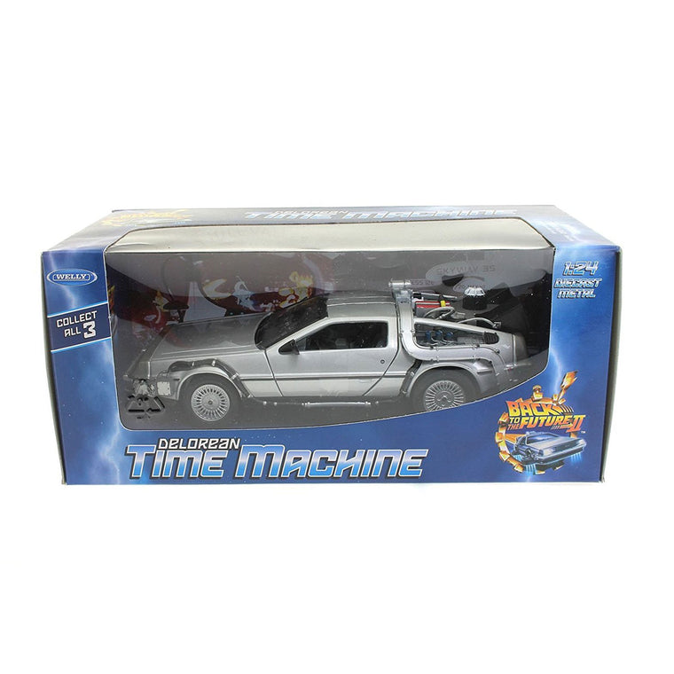 NEW Back to The Future II 2 - 81 DELOREAN LK COUPE Model - WELLY DIECAST 1/24 **