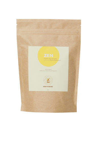 ZEN - Organic Sacred Chocolate Nurtured by Reishi Mushroom.