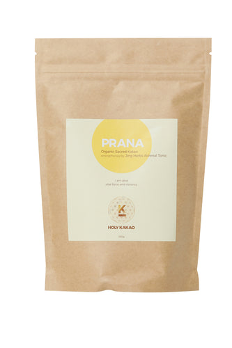 PRANA - Organic Sacred Chocolate strengthened by Jing Herbs Adrenal Tonic.