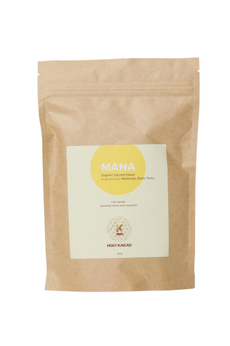 MANA - Organic Sacred Chocolate Empowered by Nootropic Brain Tonic.