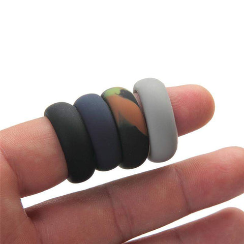 Men S Silicone Wedding Rings Thrift And Thrill