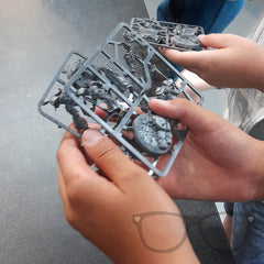 The boys are given some demo minis to paint at home courtesy of the staff at Games Workshop