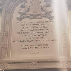 Resting place of Ada Lovelace (St Mary Magdalene Church, Hucknall)