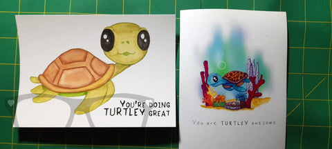 Comparrison between the original turtle drawing and the new, better version
