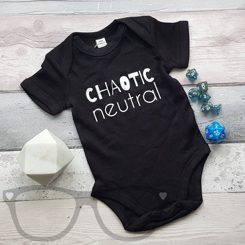 Geek baby bodysuit- Chaotic Neutral - Mini Geek Boutique
