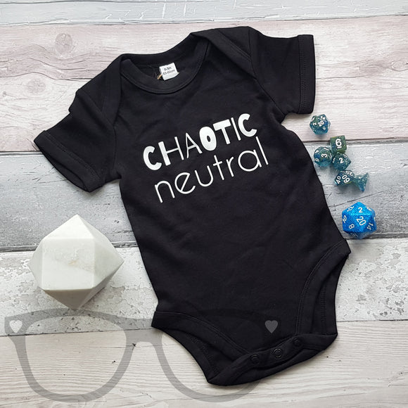 Chaotic Neutral Alignment DnD Inspired Baby bodysuit/T-shirt - Mini Geek Boutique
