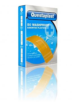 Questaplast 50 Washproof Assorted Plasters