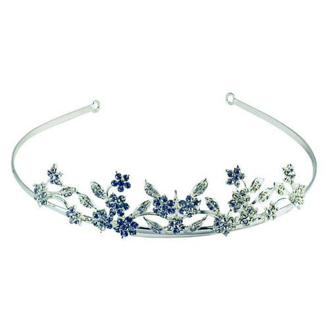 Embedded Bouquet Crystal Tiara - Belly Button Rings Direct