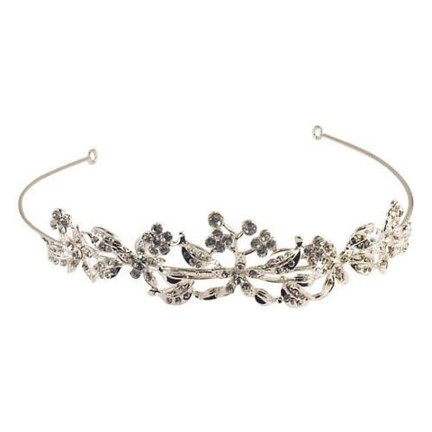 Blossoming Crystal Vine Tiara - Belly Button Rings Direct