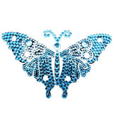 Vajazzle Butterfly Body Tattoo - Blue Gems - Belly Button Rings Direct