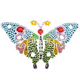 Vajazzle Butterfly Body Tattoo - Rainbow Gems (Type 2) - Belly Button Rings Direct
