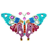 Vajazzle Butterfly Body Tattoo - Rainbow Gems (Type 3) - Belly Button Rings Direct