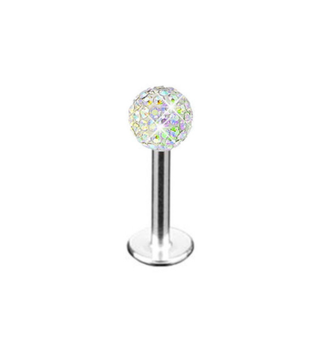 Labret Studs - Disco Ball - Aurora Boreala - Belly Button Rings Direct
