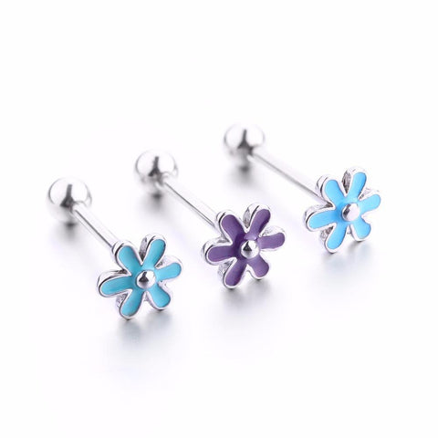 Flower Shaped - Tongue Bar - Belly Button Rings Direct