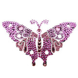 Vajazzle Butterfly Body Tattoo - Pink Gems - Belly Button Rings Direct