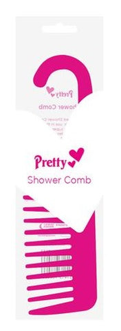 Pretty - Shower Comb with Hooked End (Pink)