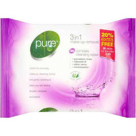 Pure 3 in 1 Make Up Removal wipes
