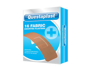 Questaplast 16 Fabric Assorted Plasters