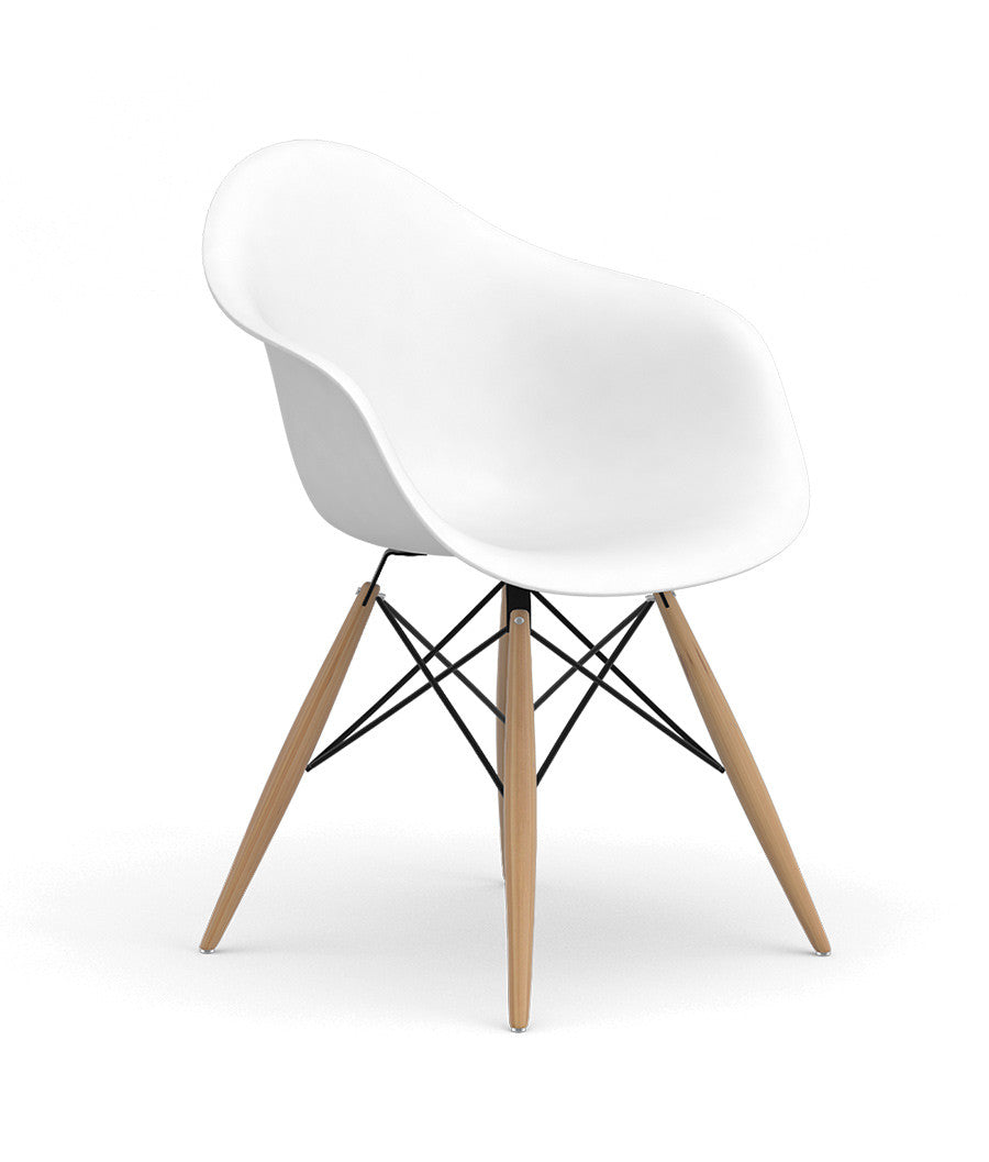 Mavi Vinyl Study Chair