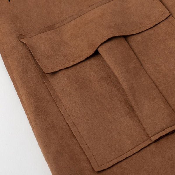 Manteau Trench-coat pardessus daim