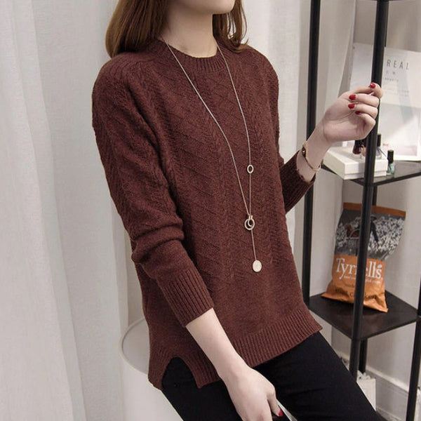 Pull long jacquard Col rond