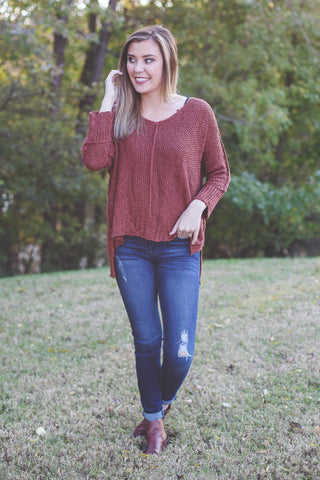 Autumn Sunset Sweater (Rust)