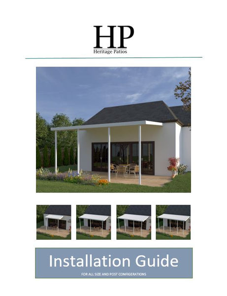 Heritage Patios Solid Patio Cover Install Manual