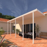 10 ft. Deep x 36 ft. Wide White Attached Aluminum Patio Cover -5 Posts - (10lb Low Snow Area)