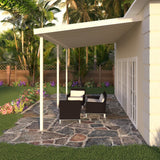08 ft. Deep x 16 ft. Wide Ivory Attached Aluminum Patio Cover -3 Posts - (10lb Low Snow Area)