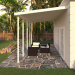 12 ft. Deep x 20 ft. Wide Ivory Attached Aluminum Patio Cover -4 Posts - (10lb Low Snow Area)