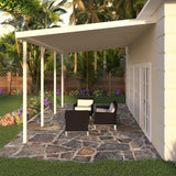 14 ft. Deep x 30 ft. Wide Ivory Attached Aluminum Patio Cover -5 Posts - (10lb Low Snow Area)