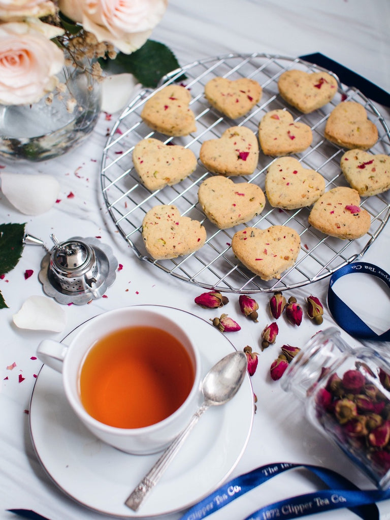 #1872CTexperience Valentine's Day Baking: Rose Pistachio Tea Cookies