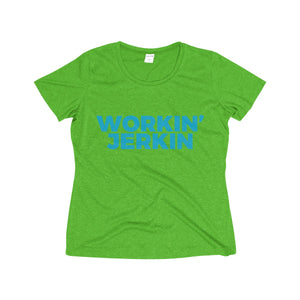 Workin' Jerkin Women's Heather Wicking Workout Tee
