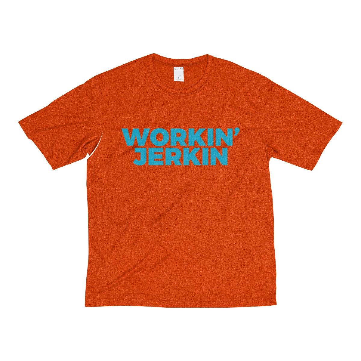 Workin' Jerkin Men's Heather Dri-Fit Workout Tee