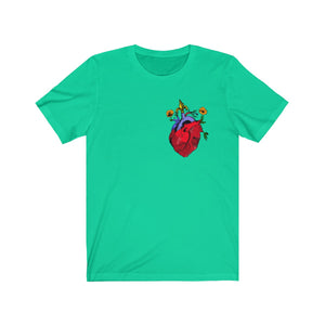 Heart Attach Unisex Jersey Short Sleeve Tee