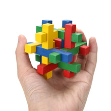 Colorful  Wooden Cube Puzzle