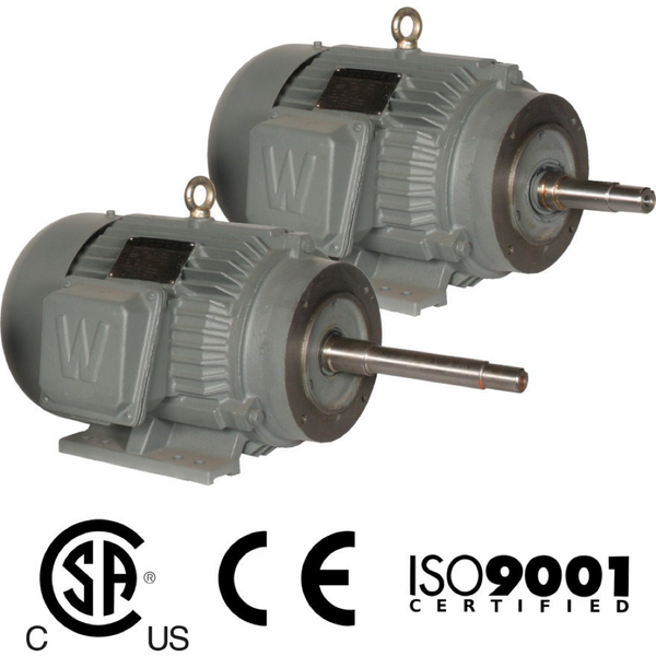 5HP/1800/208-230/460 Motor  Frame 184JP Close Coupled Pump Motors