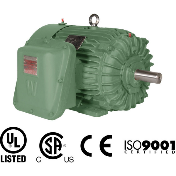 2HP/1200/208-230V/460V/3PH Explosion Proof/Inverter Duty/Premium Efficiency T Frame Motor