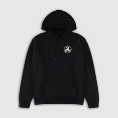 WHITE ON BLACK WHITE PUFF PRINT HOODIE