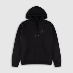 BLACK ON BLACK PUFF PRINT HOODIE + ISLES