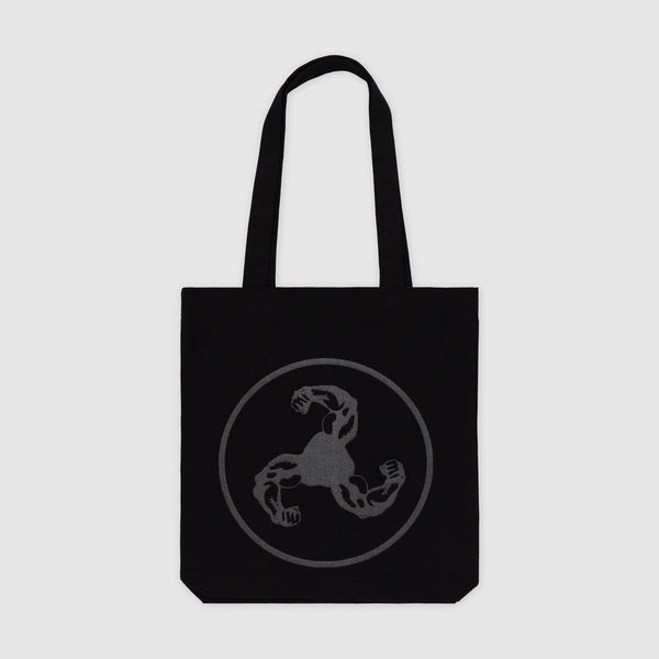REFLECTIVE LOGO BLACK TOTE BAG