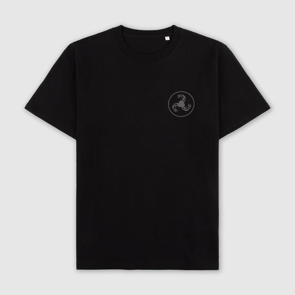 REFLECTIVE PRINT BLACK T-SHIRT