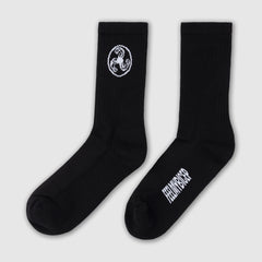 SPORTS SOCKS WHITE ON BLACK + ISLES