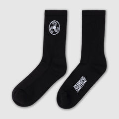 SPORTS SOCKS WHITE ON BLACK