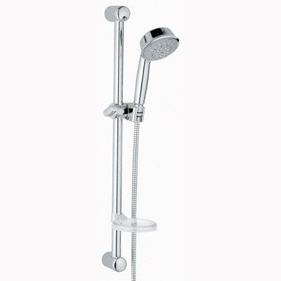 GROHE 27142BE0 POLISHED NICKEL RELEXA 5 FUNCTION HANDSHOWER WITH 24 ADJUSTABLE BAR